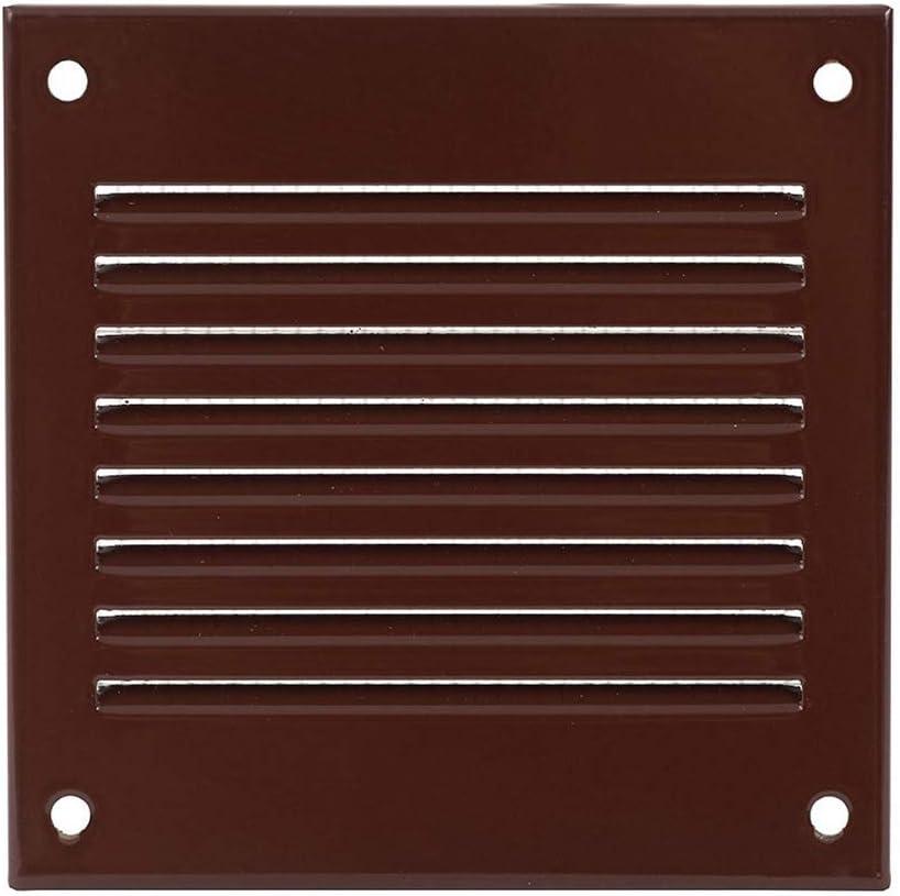 Haeusler-Shop - Rejilla de ventilación (100 x 100 mm, metal, con protección contra insectos), color marrón