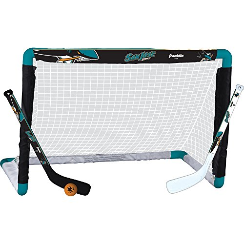 Franklin Sports NHL League Logo San Jose Sharks Mini Hockey Set