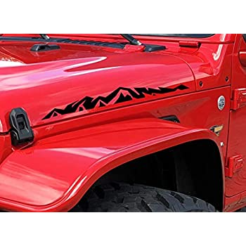 Pair Of Jeep MOAB hood decals stickers