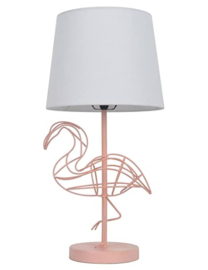 girls table lamp bedside pink flamingo wire figural table lamp girls kids room decor pillowfort amazoncom