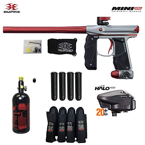 Empire Mini GS Advanced Paintball Gun Package (Dust Grey/Red)