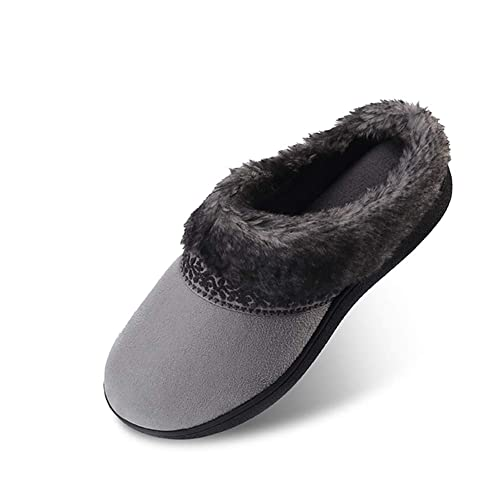 2774c7aed36c9 Women's Memory Foam Slippers Non Slip Soft Plush Fleece Lined House Shoes  Indoor/Outdoor