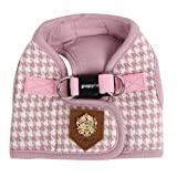 Authentic Puppia Luxurious Prestige Vest Harness B, Indian Pink, Medium, My Pet Supplies