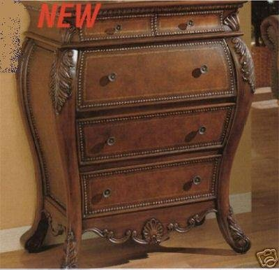 Secretary Bombe Chest with Drop Lid Storage - Writing Desk Lid Drop