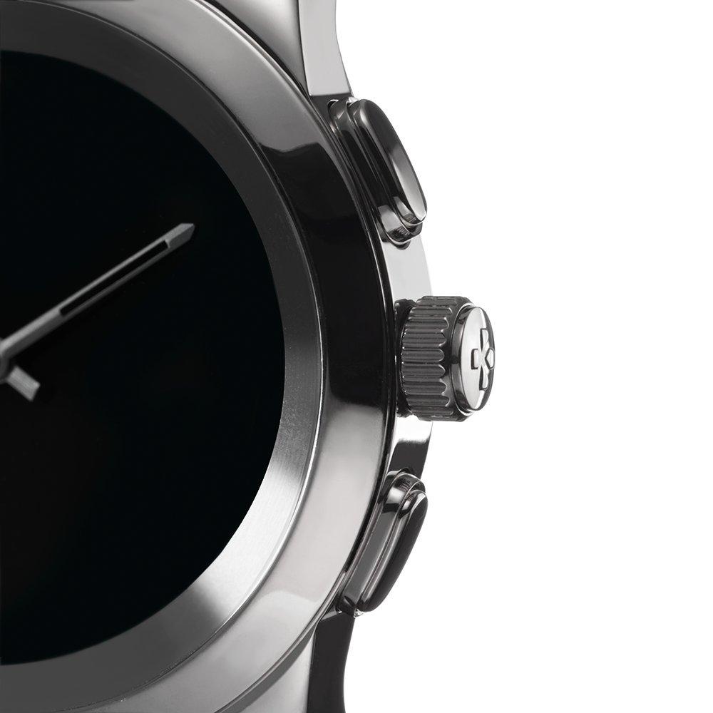 MyKronoz ZeTime-Orig-Reg-Brushed-SB-Silicon - Reloj Inteligente híbrido con Agujas mecánicas sobre una Pantalla a Color táctil de 1.22