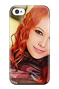 New Fashion Premium Tpu Case Cover For Iphone 4/4s - Orange Haired Model