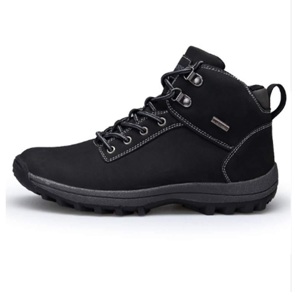 FMWLST Stiefel Winter Herrenschuhe Herren Wasserdichte Stiefel PU Stiefeletten Schuhe