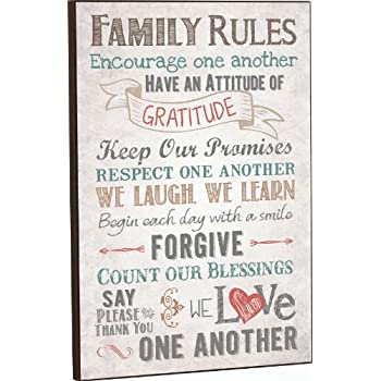 P. Graham Dunn Family Rules Decorative Wall Plaque - 12.0