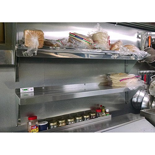 Stainless Steel Commercial Wall Shelf ( 12 W x 48L )18 Ga. with Mounting Brackets NSF APPROVED ROYAL INDUSTRIES by Royal Industries (Image #1)