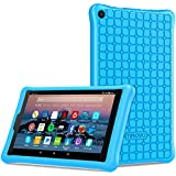 TiMOVO Soft Silicone Case for All-New Amazon Fire HD 8 Tablet (7th Generation and 8th Generation, 2017 and 2018 Release) - Protective Shock Proof Back Cover Shell for Fire HD 8 Tablet - Blue