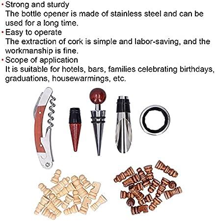 Juego de abrelatas de vino, sacacorchos para vino, abrebotellas con caja de madera, regalos para amantes del vino para hombres