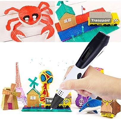 Pluma de impresión 3D,PullPritt 3D Pluma Inteligente Pen con ...