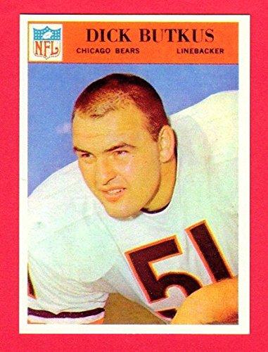 - Dick Butkus 1966 Philadelphia Gum Co. Football ROOKIE Reprint Card with Original Back (Bears)