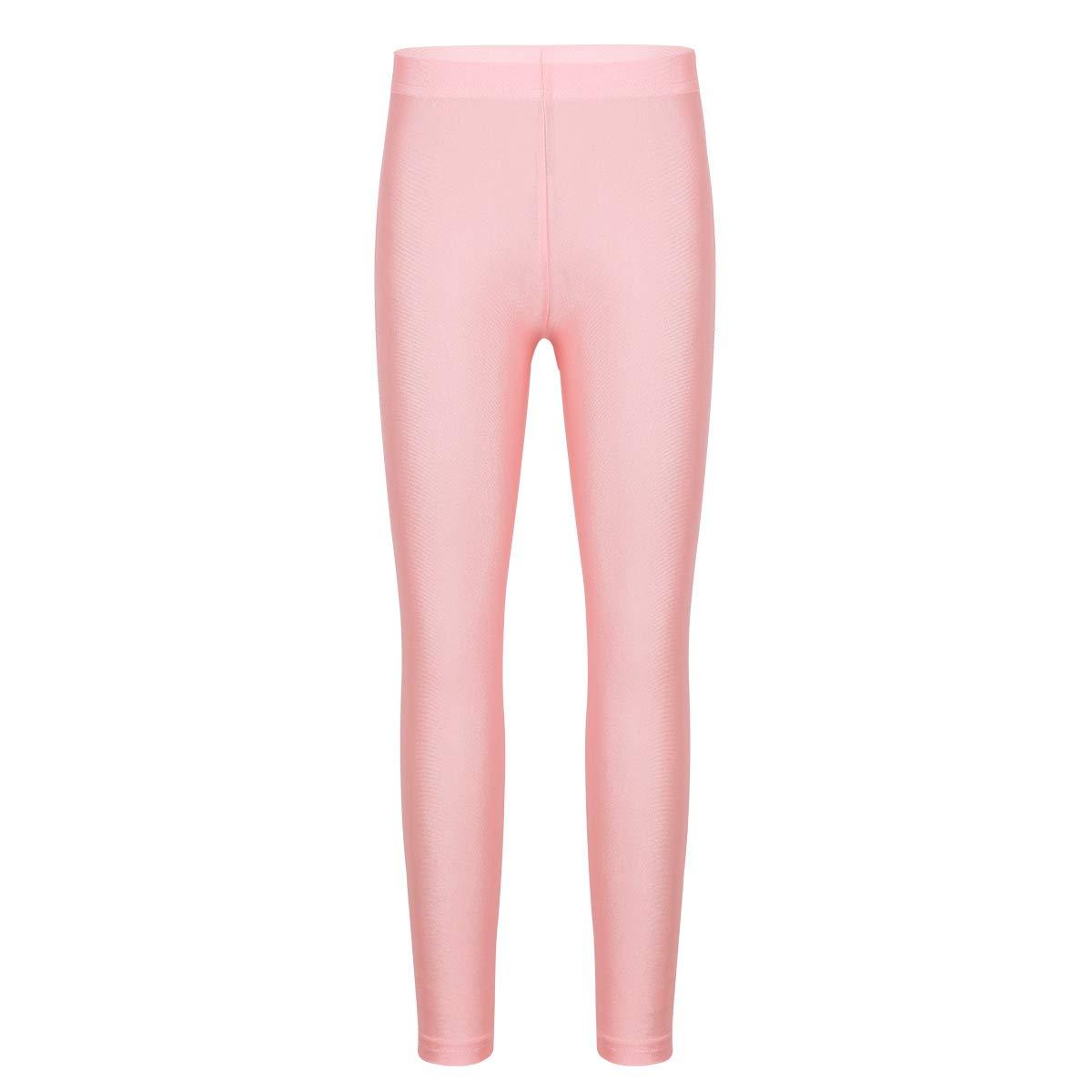 Freebily Boys Girls Stirrup Pantyhose Stockings Leggings Tights for Yoga Gymnastics Ballet Dance Pink (Ankle Length) 6-7