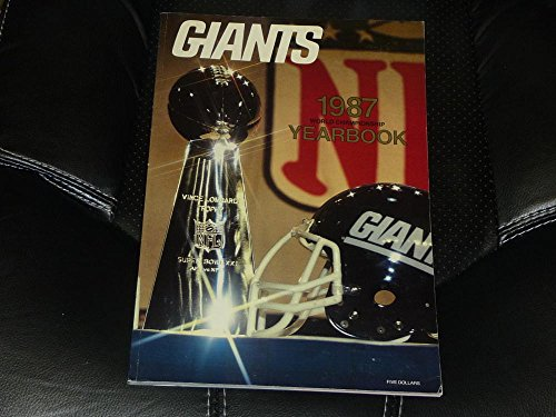 1987 NEW YORK GIANTS NFL FOOTBALL YEARBOOK EX-MINT