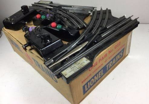 Switch Remote Track Control (Lionel 022 O Gauge Remote Control Switches in Original Box 1 Pair)