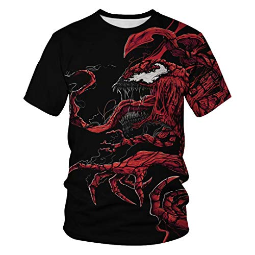 Tsyllyp Venom Shirts Youth Adult Halloween Costume Short Sleeve Tee Unisex Tops -
