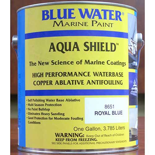Blue Water Marine Paint - Aqua Shield; Water Base Ablative - Blue Gal - - Blue Water Marine