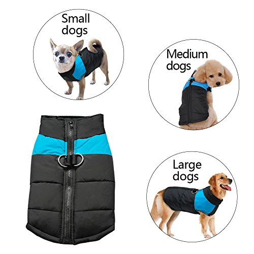 Didog Cold Weather Dog Warm Vest Jacket Coat,Pet Winter Clothes for Small Medium Large Dogs,Blue,5XL Size