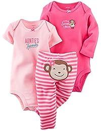 3 Piece Bodysuits Girl-Carter's Baby Girls' 3 Piece Take Me Away Set (Baby)