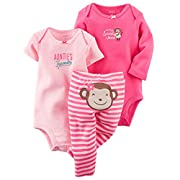 Carter's Baby Girls Take Me Away 3-Piece Little Character Set -6 Months -Pink Monkey