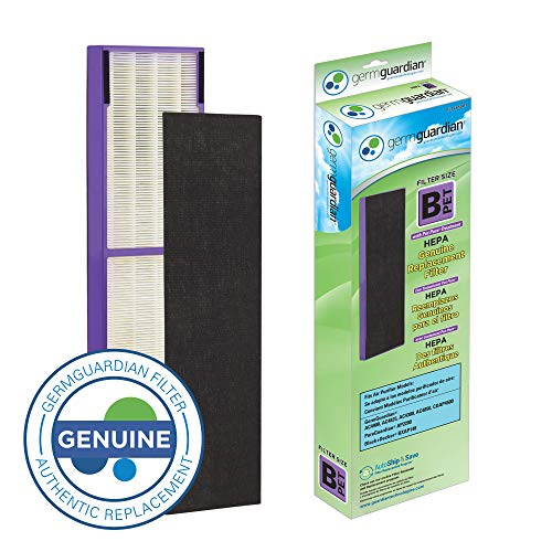 Germ Guardian FLT4850PT True HEPA GENUINE Air Purifier Replacement Filter B, with Pet Pure Treatment for GermGuardian C4900, AC4825, AC4850PT, CDAP4500, AC4300, and More