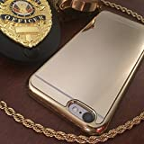 img - for iphone 6s plus case, wholesales-shop New Ultra-thin Luxury Aluminum Metal Mirror PC Back Case Cover+Metal Bumper for Apple iphone 6s plus Gold book / textbook / text book