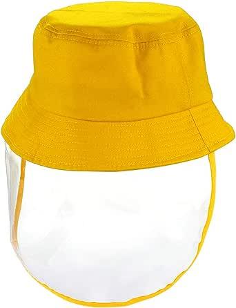 QroClothes Gorro Gorra Sombrero Careta Visera Removible Protector para Niños Adultos Algodón Mujer Niñas Hombre Viento Varios Colores