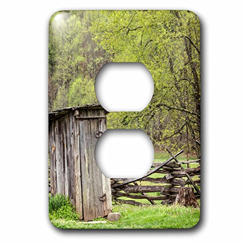 3dRose Danita Delimont - North Carolina - Outhouse, Pioneer Homestead, Great Smoky Mountains NP, North Carolina - Light Switch Covers - 2 plug outlet cover - Outlets Carolina North
