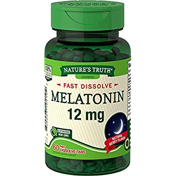 Natures Truth Melatonin 12 mg, Natural Berry Flavor, 60 Count