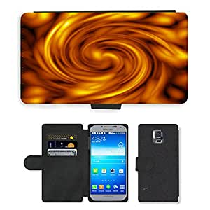 PU LEATHER case coque housse smartphone Flip bag Cover protection // M00153363 Textura Fuego Anillo Movimiento Strudel // Samsung Galaxy S5 S V SV i9600 (Not Fits S5 ACTIVE)