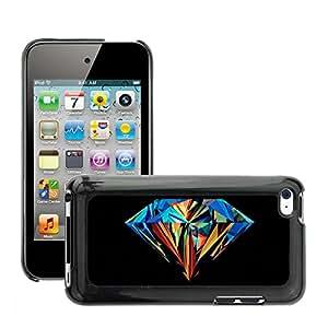 Super Stellar Slim PC Hard Case Cover Skin Armor Shell Protection // M00051926 diamond aero vector art colorful // Apple iPod Touch 4 4G 4th