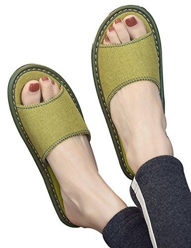 Chaussures Caoutchouc Youlee Semelle Été Maison Grün de en Unisexe Antidérapant Chaussons 77qOXFY