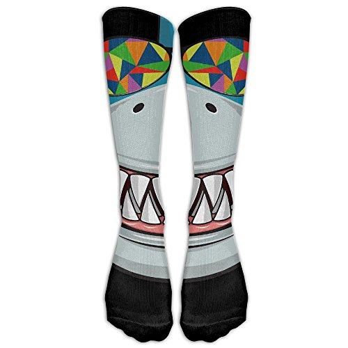 MingDe YY Women & Men Stockings Shark With Colored Sunglasses Calf High Socks Athletic Long Socks Classics Crew - Sunglasses Online Order Canada