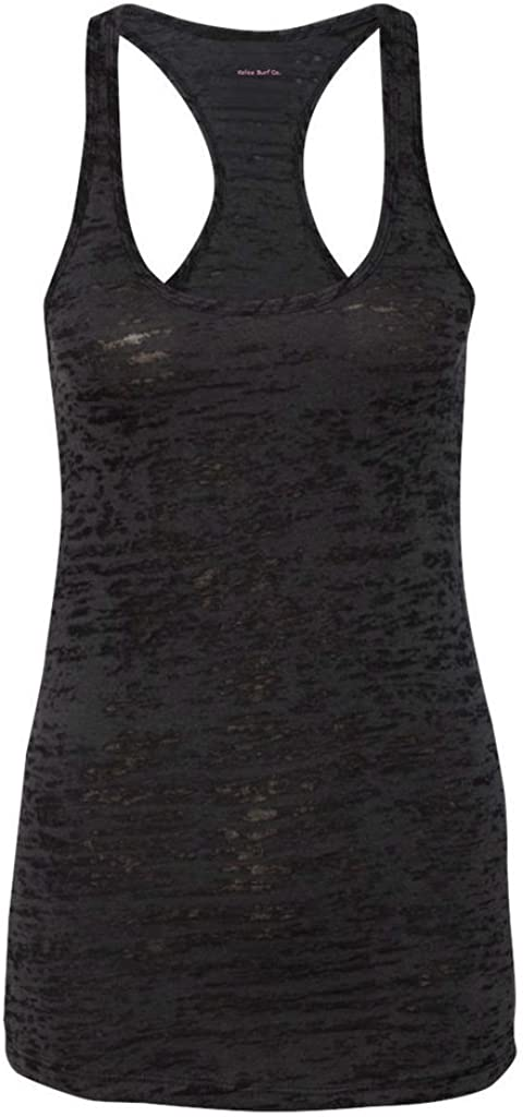 Koloa Surf Co.(tm) - Ladies Racerback Burnout Tank Top in-L Black