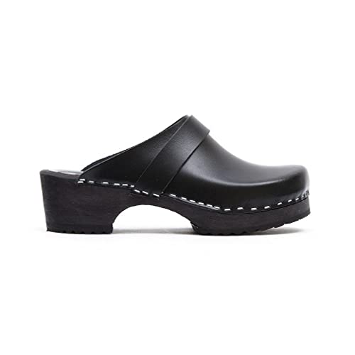 Toffeln Classic klog 310 Classic Traditional Wooden Clogs - Black