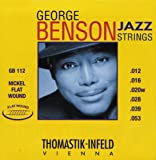 Thomastik GB112 Medium Light George Benson Custom Flatwound Guitar Strings, Best Gadgets
