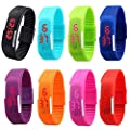 CdyBox Men Women Kids Digital Wristwatch Touch Screen LED Bracelet Silicone Band Watch (8 Pack)