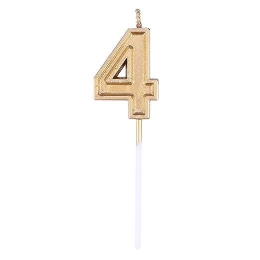 NUOBESTY Glitter Dorado Feliz cumpleaños número Velas número ...