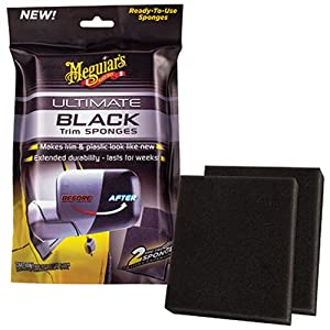 Meguiar's G15800 Ultimate Black Trim Sponge, (Pack of 2)