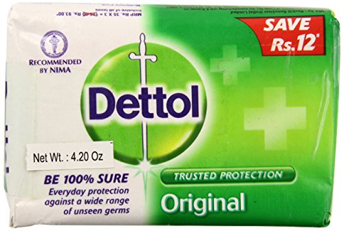 Dettol Original Soap India Large, 120 Grams, 12 Count