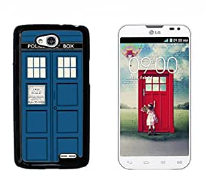 Telephone Booth Best Of London Design Hard Plastic and Aluminum Back Case for LG Optimus L90 by Maris's Diary