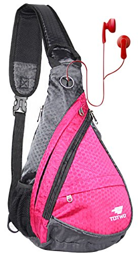 YHLCSQ Anti Theft Sling Bag - Small Chest Shoulder Crossbody Backpack for Men & Women Hot Pink