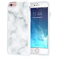 iPhone 6 6s Case, True Color® White Marble [Stone Texture Collection] Slim Hybrid Hard Back + Soft TPU Bumper Protective Durable [True Protect Series] iPhone 6 / 6s 4.7""
