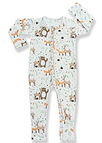 Organic Cotton Footie Pajamas - 1
