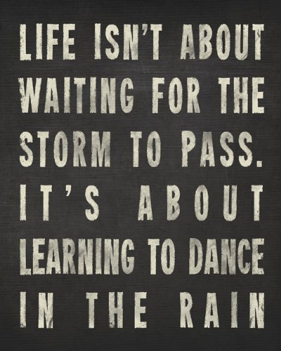 Keep Calm Collection Dance In The Rain, archival print (charcoal) (Keep Calm And Dance In The Rain)