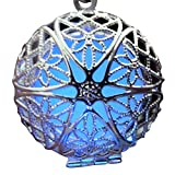 UMBRELLALABORATORY Steampunk Fairy Magical Fairy Glow in the Dark Necklace-Lila/Blue-sil