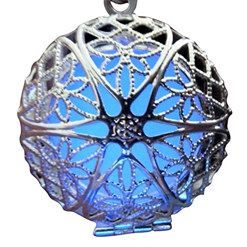 [Steampunk Fairy Magical Fairy Glow in the Dark Necklace-Lila/Blue-sil] (Punk Fairy Costumes)