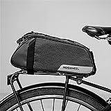 AUSTY 35L Multifunctional Bicycle Rear Seat Bag Outdoor Cycling Bike Rack Seat Bag Rear Trunk Pannier Backseat Bag Handbag Shoulder Bag