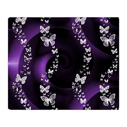 CafePress Purple Butterfly Swirl Soft Fleece Throw Blanket,